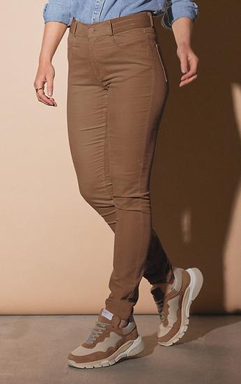 Pantalon en velours camel avec ceinture élastiqué