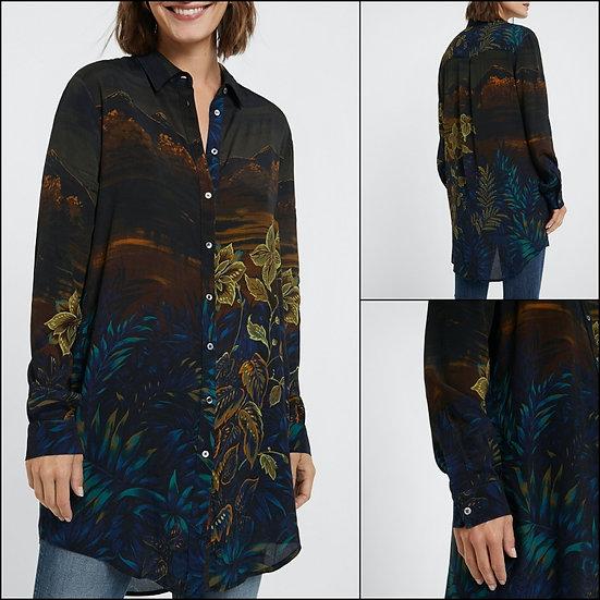 Longue chemise imprimée
