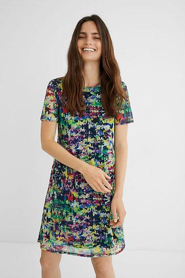 Robe multicolore