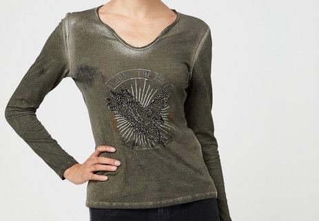 Tee-shirt métallisé avec impression