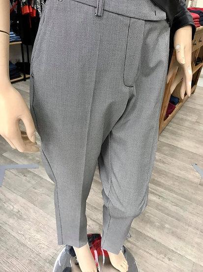 Pantalon de tailleur pied de poule