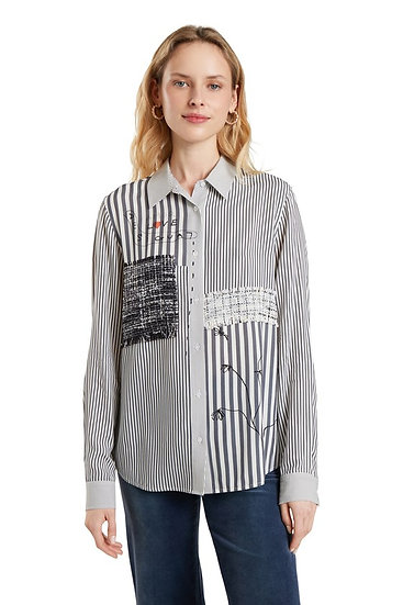 Chemise à lignes avec détails