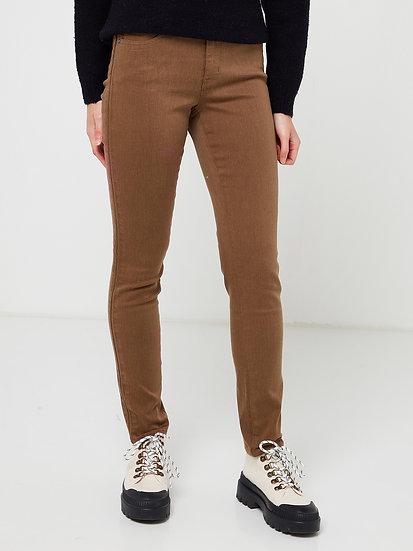 Pantalon slim push-up chocolat
