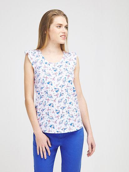 Tee-shirt imprimé en coton modal