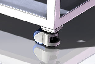 casters with leveling pads
