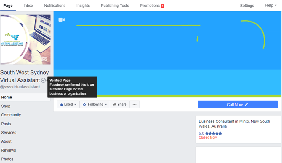 Facebook Verification | Virtual Assistant Sydney