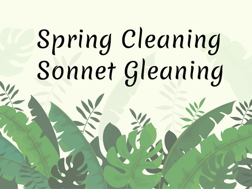 Spring Cleaning Sonnet Gleaning - Poetry Contest | Sonnet