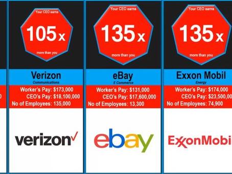 Во сколько раз гендиректора крупных компаний получают больше, чем простые работники