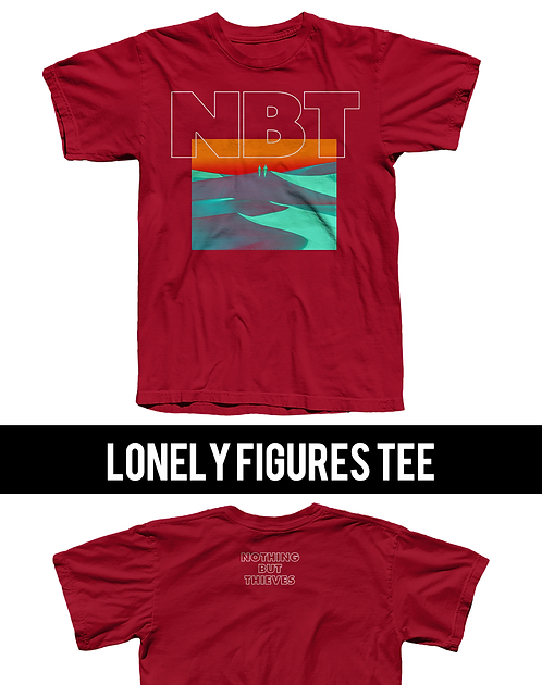 Lonely Figures Tee / Cardinal