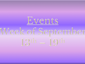 Cozy Mystery Community Events: Week of Sept. 13th