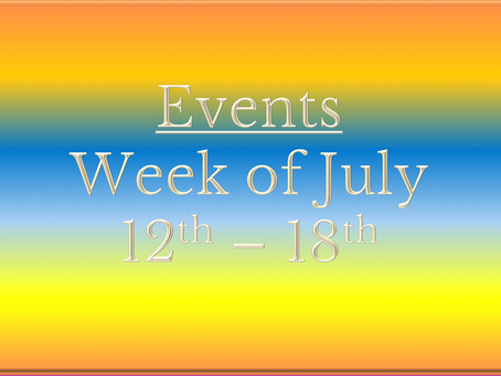 Cozy Mystery Community Events Week of July 12th-18th