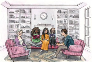 Drawing of Moss Hill Writer's Society