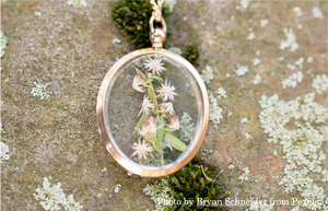 Locket with flowers and herbs