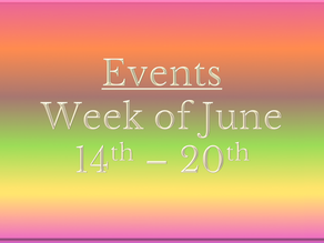 Cozy Mystery Community Events Week of June 14th