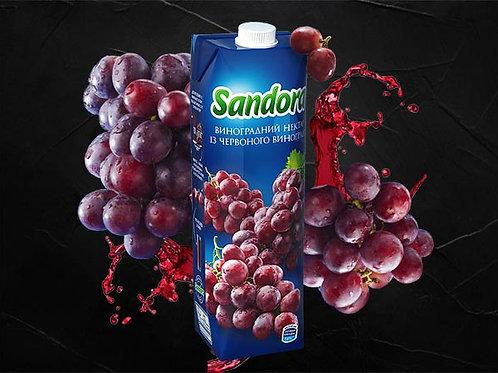 Сік виноградний червоний 1000мл
