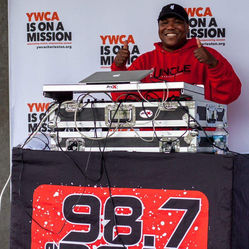 DJ Woody Woods of 98.7 The Beat at the inaugural YWCA Race to End Racism April 29, 2017