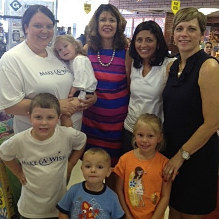 Jan with Marisa and Make-A-Wish families