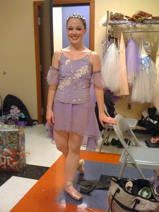 Brittany in her favorite ballet role as Dewdrop in the Nutcracker