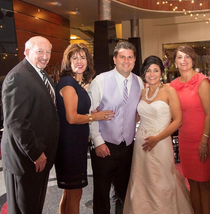 Gary & Jan Vineyard at Doug & Marisa Skaff's wedding, with Traci Nelson