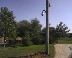 Remote pole mounted PTZ camera
