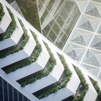Uniform sobre o Peninsula Place, de Calatrava
