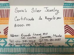 MXN1000 Gift Certificate
