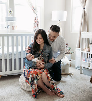 In Home Newborn Session with Denise Lum Photography