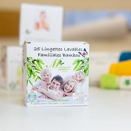 25 lingettes lavables bambou oekotex 100