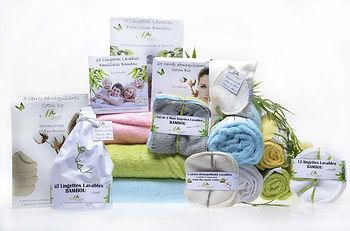 Coton bio bambou lingettes lavables écologique biologique démaquillage lavage visage oeko tex artisanat français