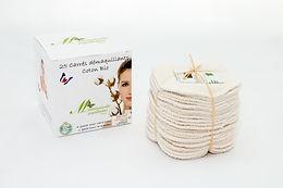 25 carrés coton bio démaquillants lavables