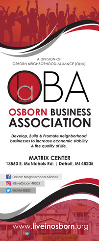 Osborn Business Association Retractable Banner