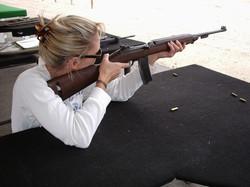shooting rifles