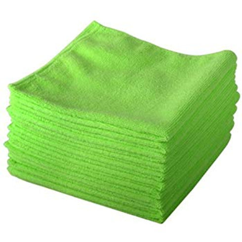 Professional Extra Thick Microfiber Towels, Green (Pack of 5)