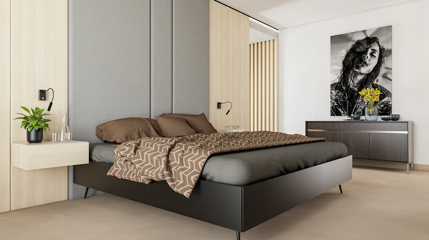 Spálňa interiérový dizajn