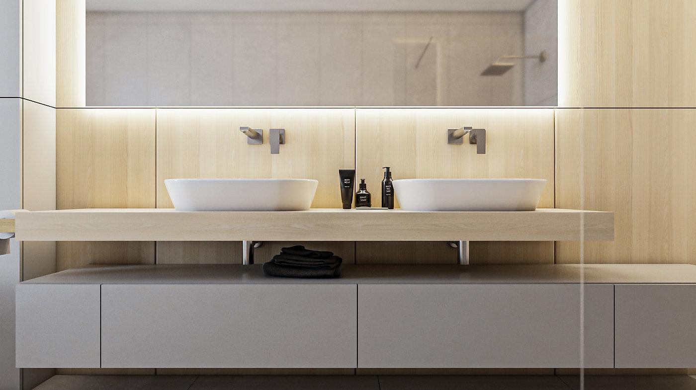 Kúpeľňa interiérový dizajn