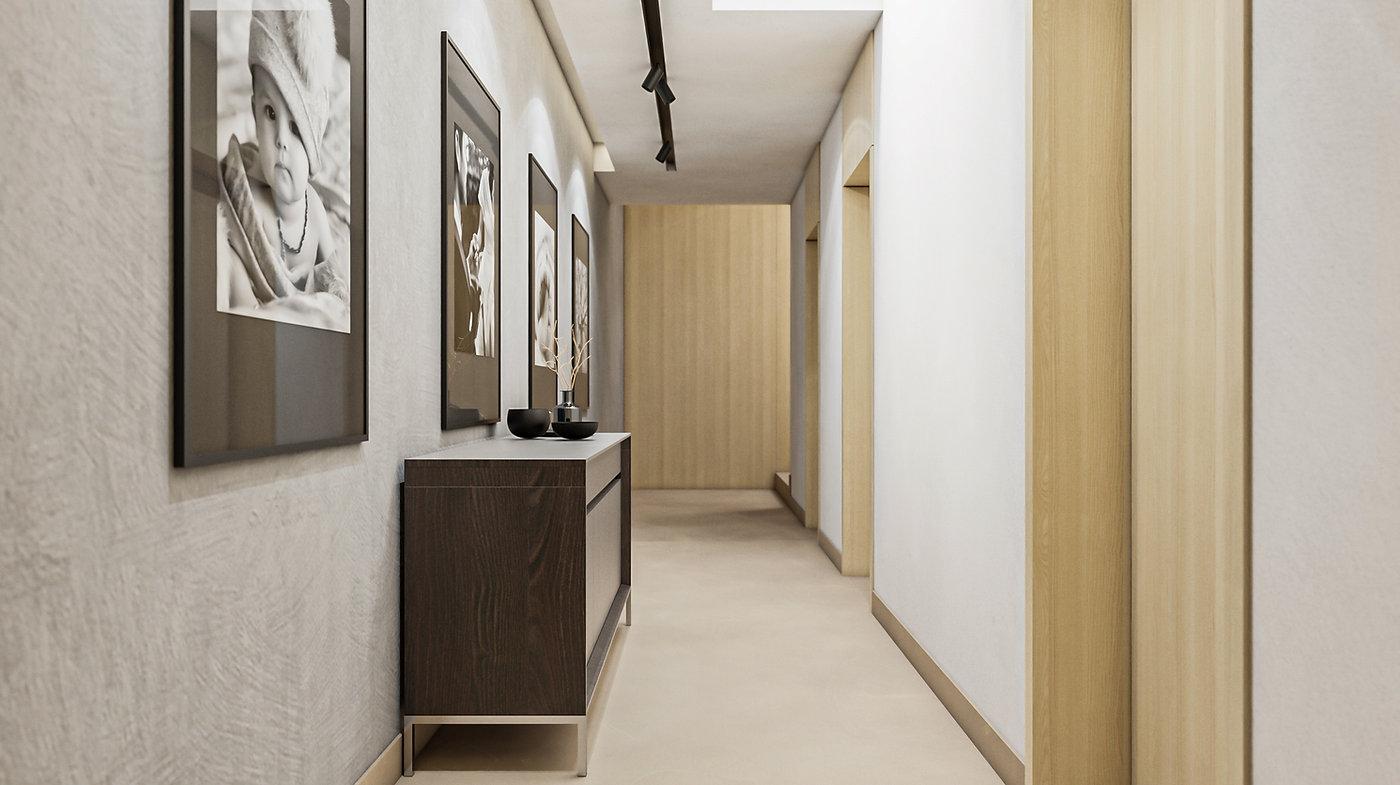 Chodba interiérový dizajn