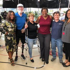 SGT Kendra Lou Garza receives prosthetic socket on Great Day Houston! Watch it Now!