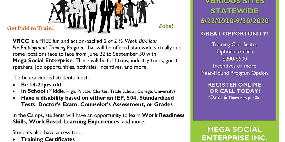 Virtual Statewide Summer 2020 Career Camp