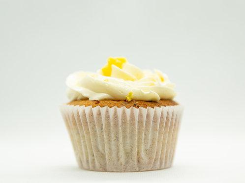 Lemon Cupcake med lemon kurd