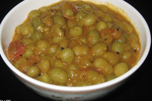 The Bombay -Larger serving sizes of Okra, peas in coconut milk and rice(9/14