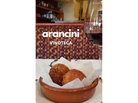 Arancini en la Vinoteca - Street Food de Sicilia