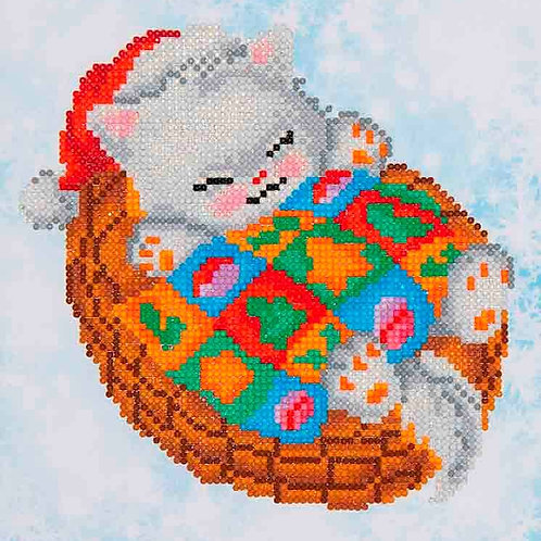 Diamond Dotz Snug Christmas Kitty Diamond Facet Art Kit