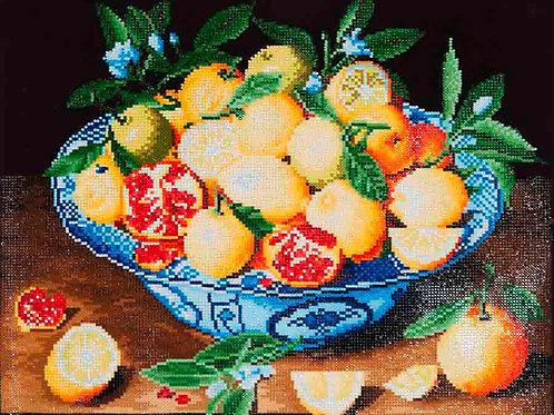 Diamond Dotz Still Life With Lemons, Oranges & Pomegranates Diamond Facet Art Kit