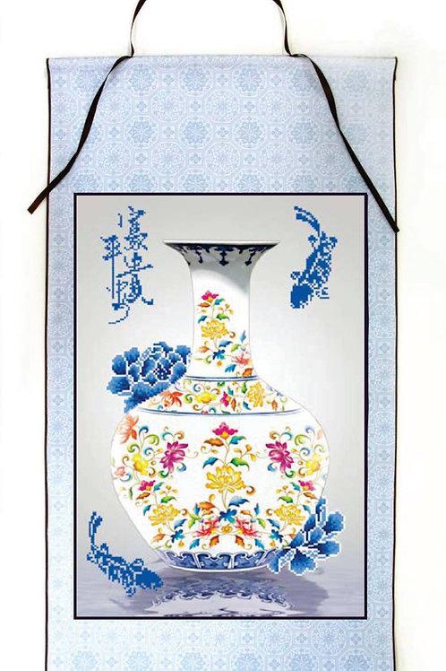 Oriental Blessing Scroll-Prosperity