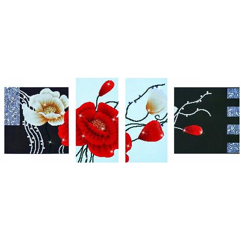 Diamond Dotz Art Deco Poppies Diamond Facet Art Kit