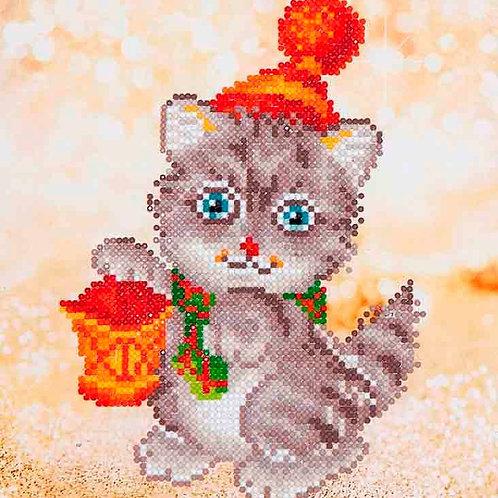 Diamond Dotz Christmas Kitten Glow Diamond Facet Art Kit
