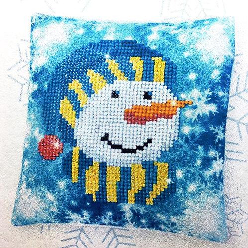 Diamond Dotz Christmas cap Mini Pillow