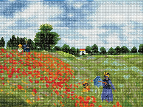 Poppy Fields (après Monet)