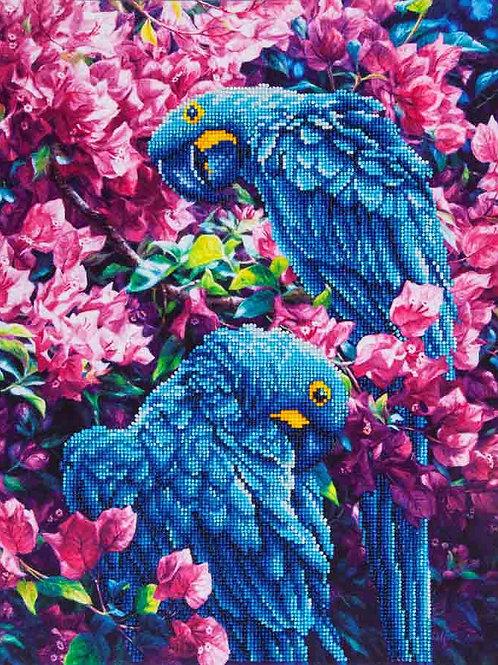 Diamond Dotz Blue Parrots Diamond Facet Art Kit
