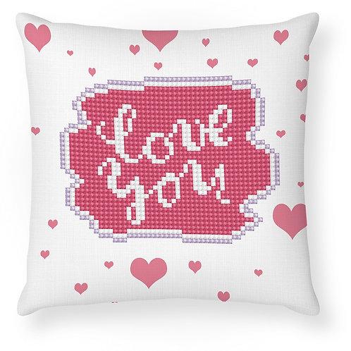 Love You Mini Pillowcase